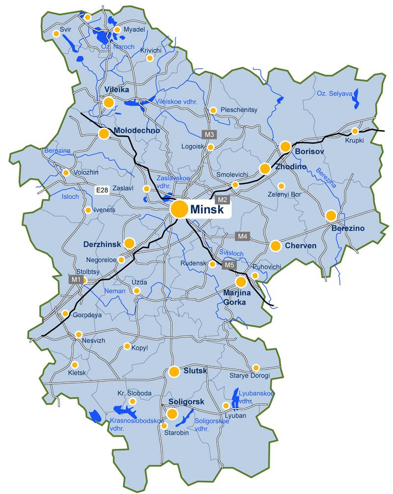 Minsk  Regions  Belarus SIG  JewishGenorg