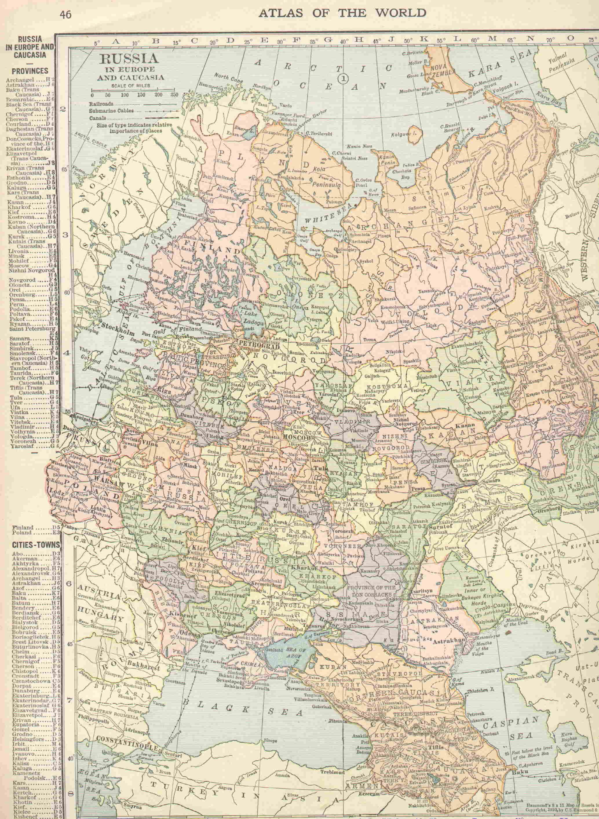 1834 Minsk Gubernia map