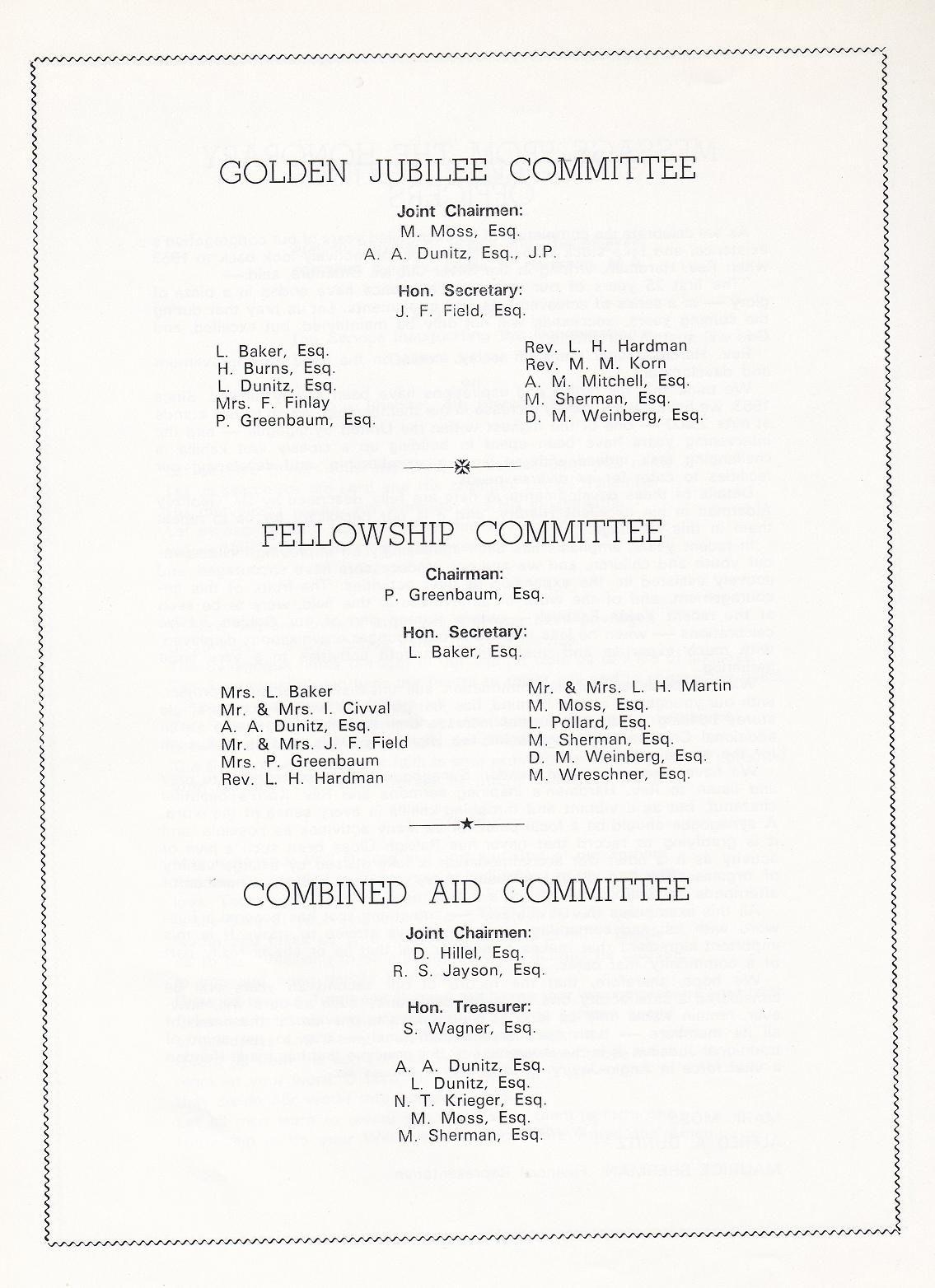 Jcr uk hendon synagogue goldern jubilee brochure 1928 1978 the above pages were followed by 50 pages of advertisements or greetings which have not been not been reproduced here kristyandbryce Choice Image