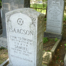 The Duck Farm Cemetery and the Flu Epidemic of 1918: The Story of Rose Paikin Isaacson