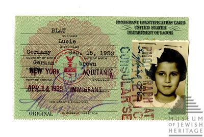 Artifact Spotlight: Immigrant Identification Card of Lucie Blau