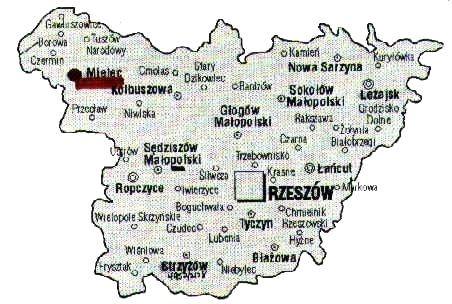 Southern Poland Map.Strzyzow Poland Coordinator S Introduction